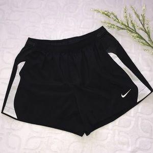 NIKE DRI-FIT Black Athletic Workout Shorts Large